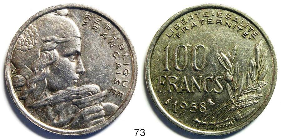 Recto - 100 FRANCS CHOUETTE 1958 REF 73